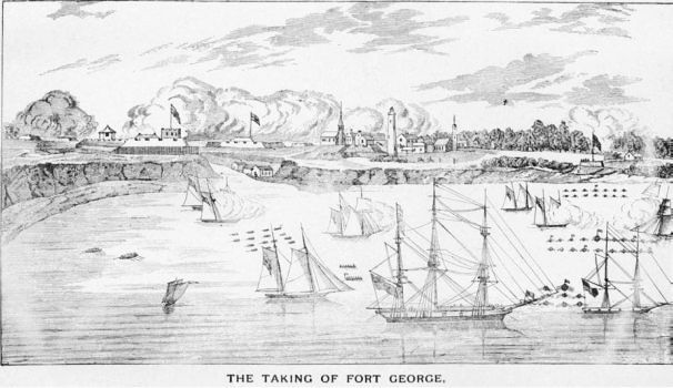 American landing at Fort George