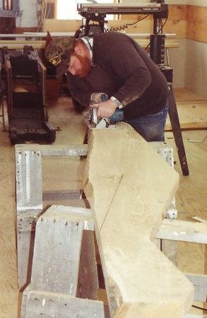 Warren in woodshop