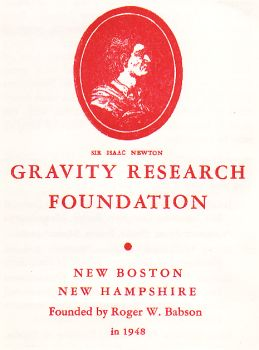Gravity Research Foundation pamphlet 1