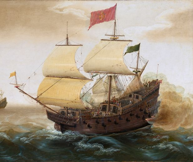New boston historical society a spanish galleon by verbeeck 1620 publicscrutiny Choice Image
