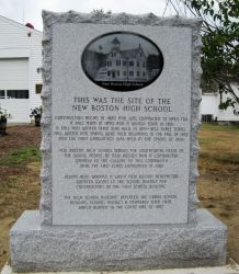 New Boston High School marker