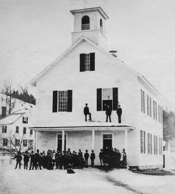 The Village School before the Fire of 1887